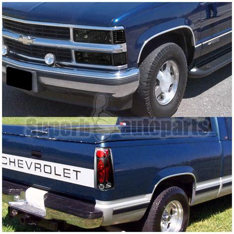1998 chevy silverado lights 1994 1998 chevy c k silverado smoke headlights bumper