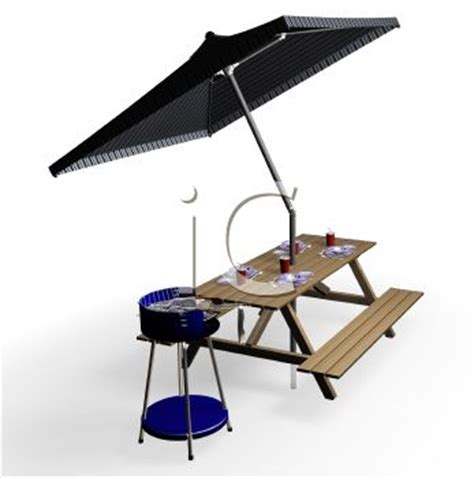 clip on table umbrella 3d picnic table with umbrella clipart panda free