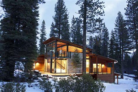 contemporary mountain cabin elle dee west coast modern