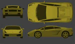 Lamborghini Gallardo Blueprint Tutorials3d Blueprints Lamborghini Gallardo
