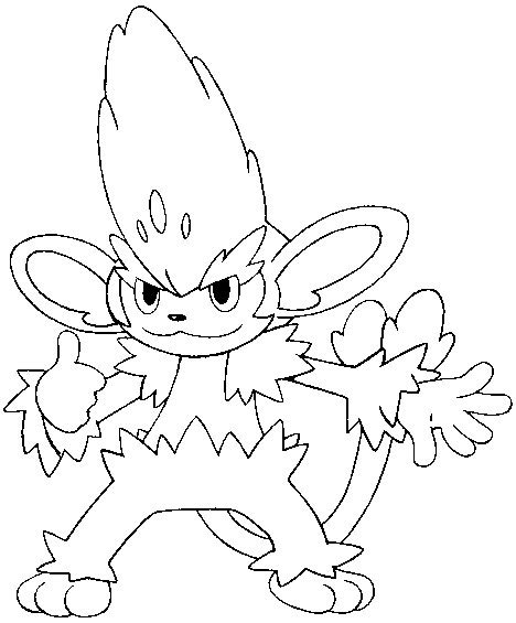 pokemon coloring pages pansage disegni da colorare pokemon simisage disegni pokemon