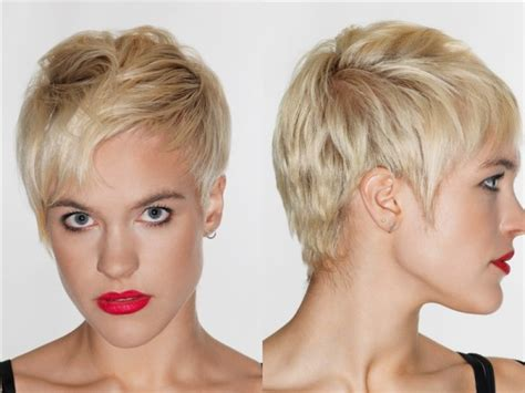 triangle face shape hairstyles with fine hair short layered pixie haircut for inverted triangle and