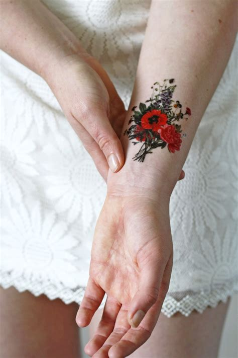 floral temporary tattoos floral vintage temporary floral temporary