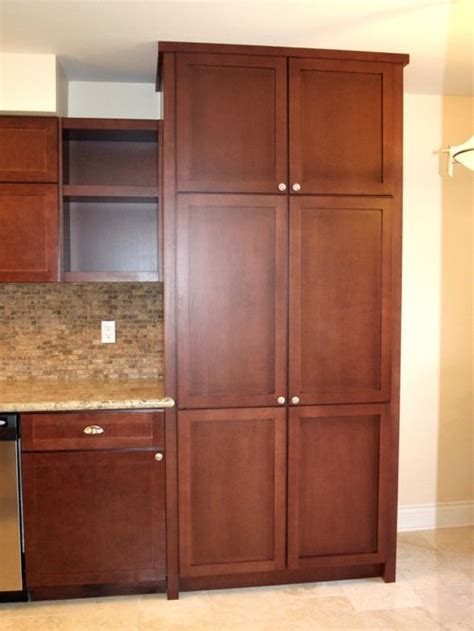 custom made pantry cabinet and shelves