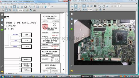 Laptop Motherboard Power Section by Laptop Motherboard Repair Chip Level How To Check Dead