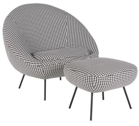 Fabric Armchair And Footstool 1960s Style Armchair And Footstool At Habitat