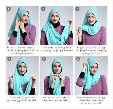 tutorial hijab scarf segi empat kreasi   kamu