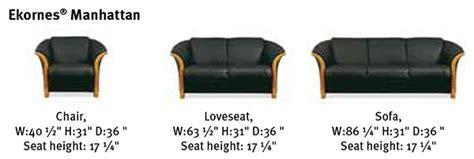 ekornes manhattan sofa dimensions ekornes manhattan sofa loveseat and chair ekornes