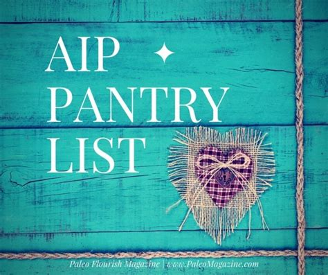 Paleo Pantry Staples by Aip Autoimmune Paleo Pantry List