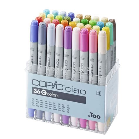 Copic Marker 36 By Polkapolca by Copic Ciao Marker Set Of 36 Colours Set C Copic Ciao