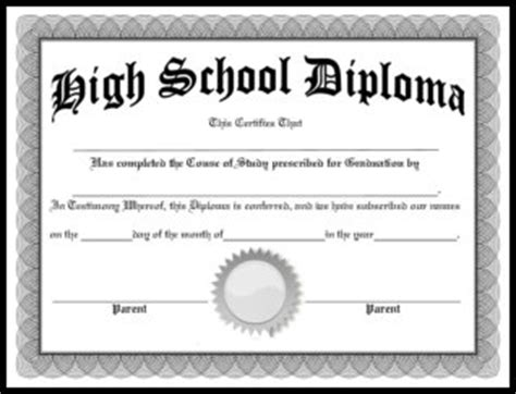 Free Homeschool Diplomas Template Free Printable High School Diploma Templates