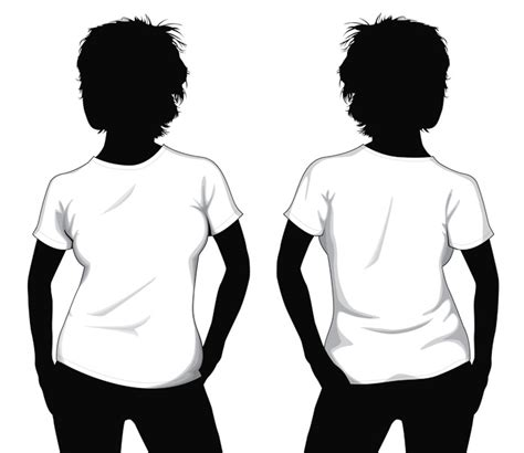 Girl T Shirt Template By Muraviedo On Deviantart T Shirt Design Template Illustrator