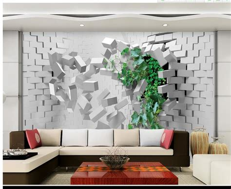 hd wall murals free shipping modern wall 3d murals wallpaper hd 3d brick blast effects 3d mural for tv sofa