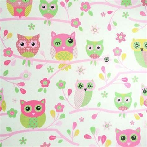 owls pink feature wallpaper 6327 by debona ebay