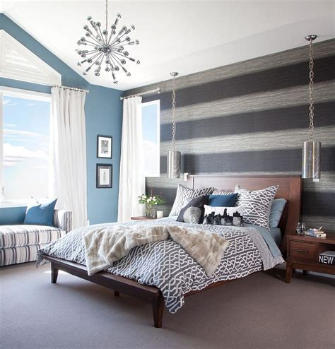 trendy bedroom 20 trendy bedrooms with striped accent walls