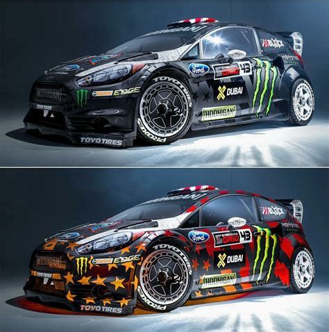 ken blocks new car for the gymkhana eight amazing paint changing colors when seen from