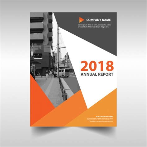 book cover book report orange creative annual report book cover template vector
