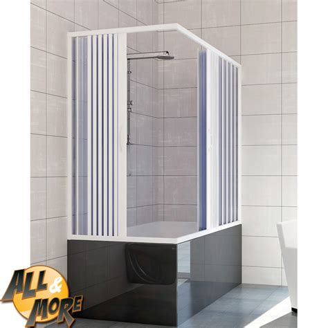 box doccia vasca all more it box cabina doccia tre lati per vasca in pvc