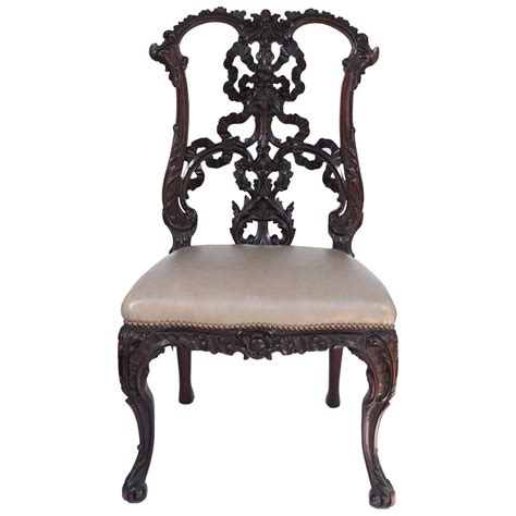 chinese chippendale chair single 19th century chinese chippendale side chair at 1stdibs