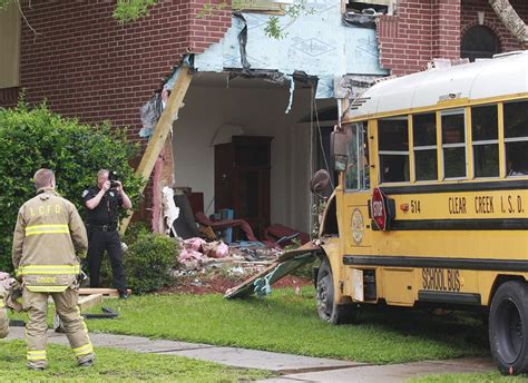 school bus house 3 injured when houston area school bus crashes into house longview news journal