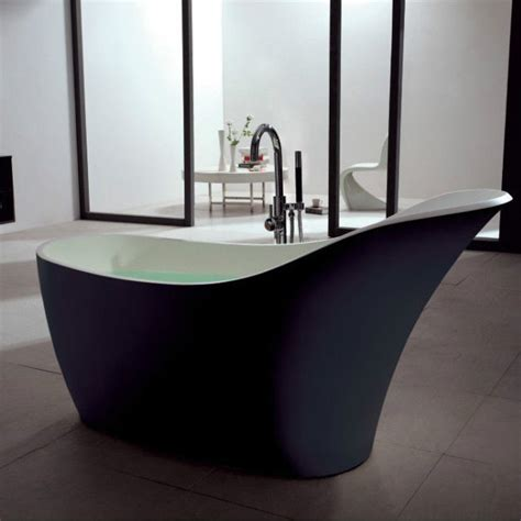free standing solid surface modern soaker bathtub 67