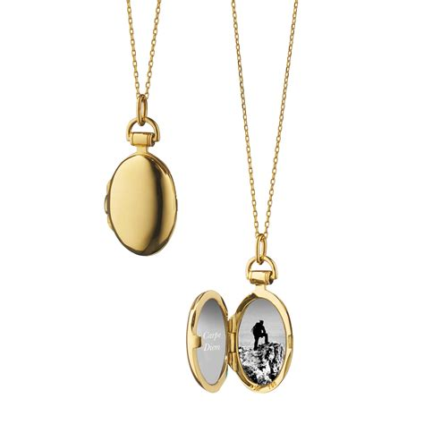 18k yellow gold locket steel chain