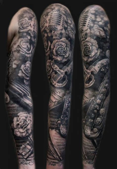 music tattoo sleeves inspired sleeve kozboard s