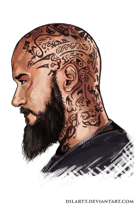 ragnar head tattoos ragnar lodbrok by dilartt deviantart on deviantart