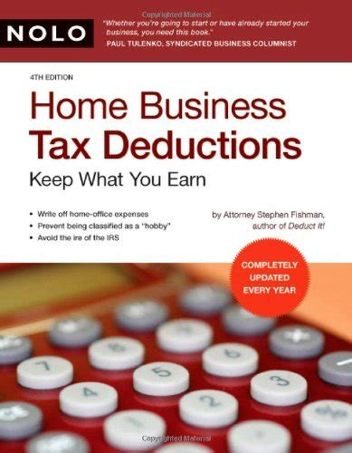 home business tax deductions keep what you earn books tax preparation books home business tax deductions keep