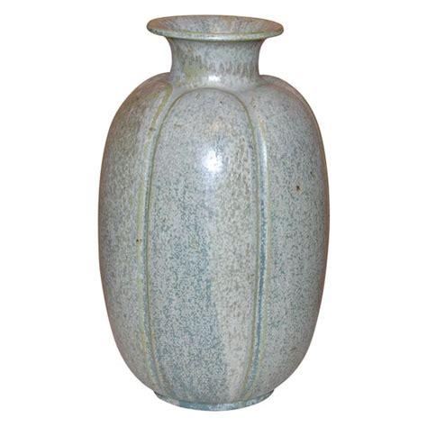 Big Grey Vase Large Blue Green Grey Glazed Stoneware Vase By Arne
