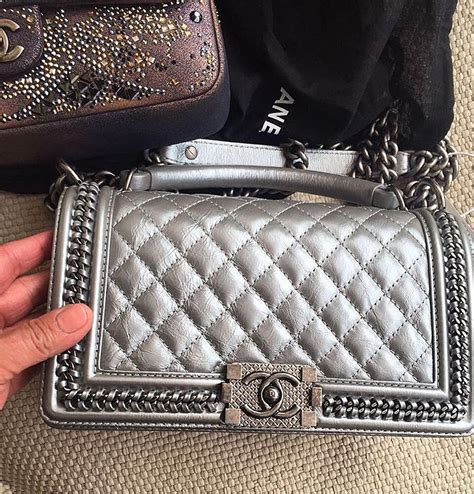 Introducing Chanel Faux Croc Purse by Introducing Boy Chanel Chain Around Replica Bag
