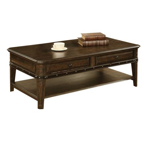 coaster 2 drawer 1 shelf coffee table in dull black 704258