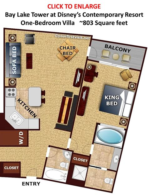 bay lake tower studio floor plan review bay lake tower at disney s contemporary resort