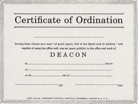 pin certificate of ordination for deacons pdf on pinterest