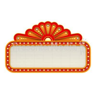 marquee clipart fashioned boards printables
