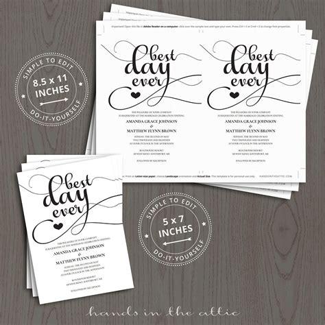 day  wedding invitation templates hands