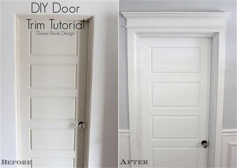 diy door frame diy door trim tutorial dream book design