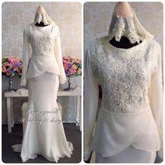 Flare Baju Pesta Muslimah baju pengantin terkini 2016 2017 rizalman bridalwear