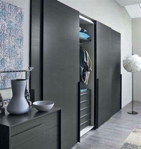 gorgeous matte black sliding door wardrobe door designs
