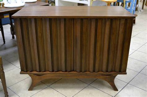 mid century modern walnut sideboard liquor cabinet