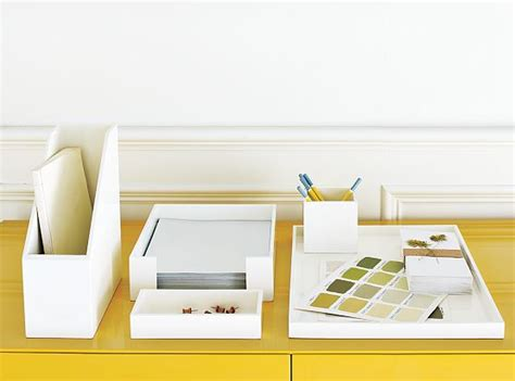 Desk Organization Sets White Desk Accessories Set Premier Desk Set Collection Mini Crocodile White Transitional Desk