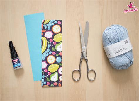 creare ladari fai da te creare un segnalibro fai da te di carta con nappina
