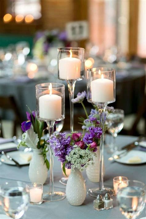 New Tall Wedding Centerpiece Ideas On A Budget Creative Wedding Candle Centerpieces On A Budget
