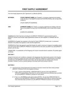 Supplier Agreement Contract Template download template get 1800 business document templates to help you