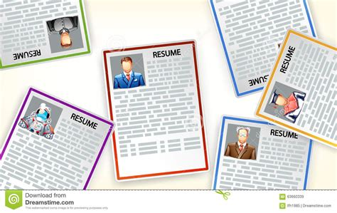 picture of resume6 stock vector image 63660339