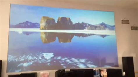 grey projection projector screen home theater epson 3500 3600e az silver grey paint