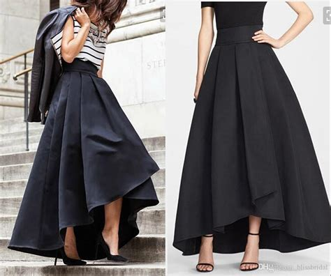 2017 2016 cheap high low satin skirts ruched formal