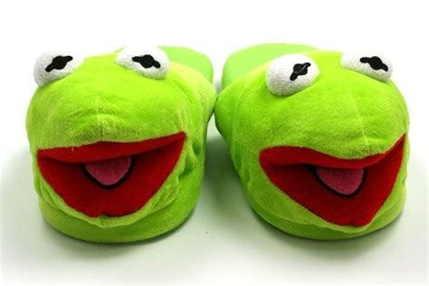 kermit the frog slippers image gallery kermit slippers