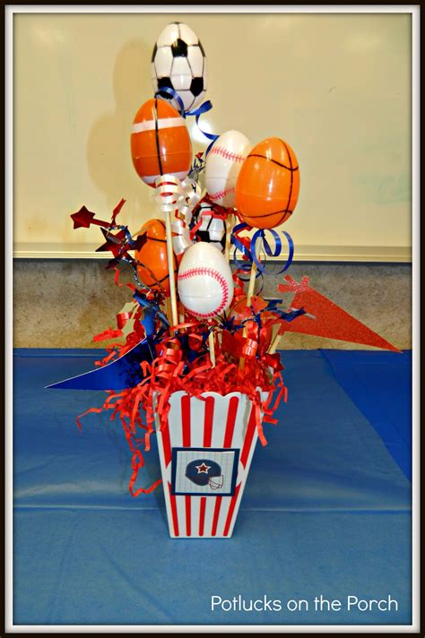 sports themed table decorations potlucks on the porch appreciation week all