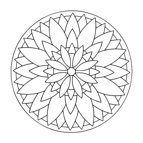 Free Mandalas Page 171 Mandala To Color Easy Children 17 Mandalas To Color Easy